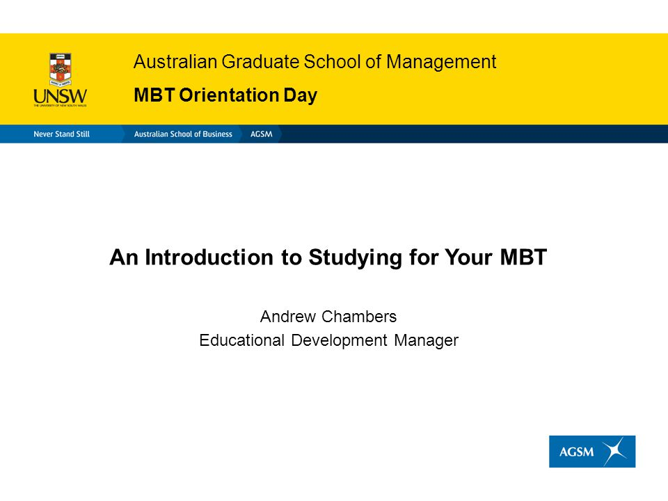 An Introduction to Studying for Your MBT