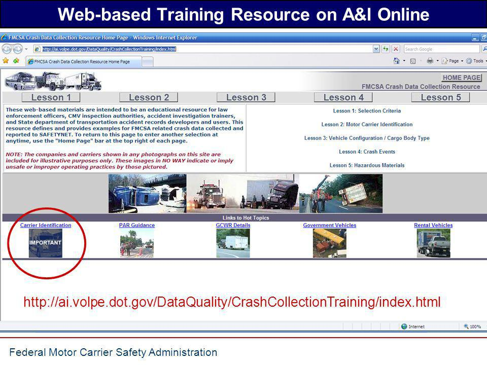 Web-based Training Resource on A&I Online