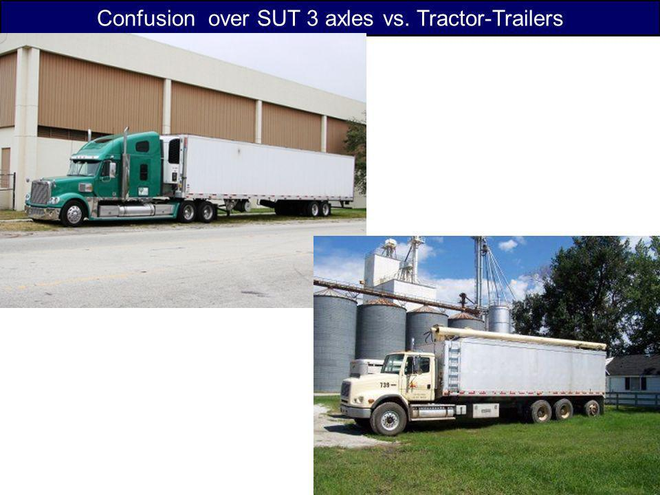 Confusion over SUT 3 axles vs. Tractor-Trailers
