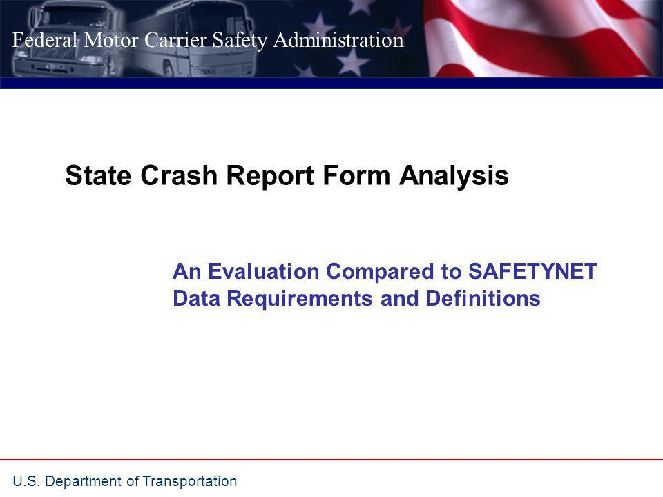 State Crash Report Form Analysis