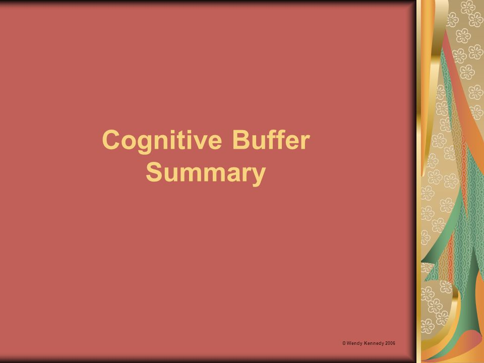 Cognitive Buffer Summary