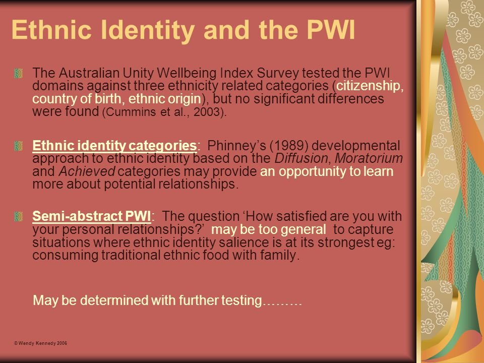 Ethnic Identity and the PWI