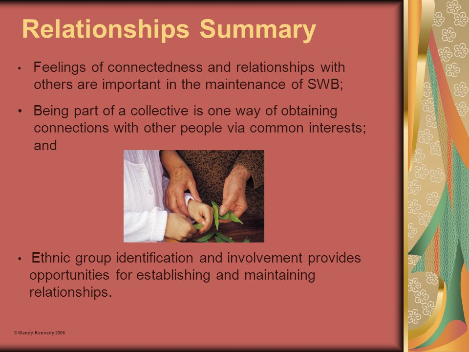 Relationships Summary