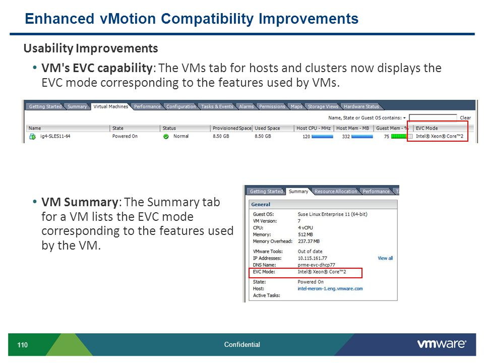 Enhanced vMotion Compatibility Improvements