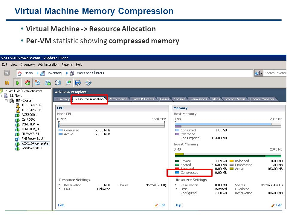 Virtual Machine Memory Compression