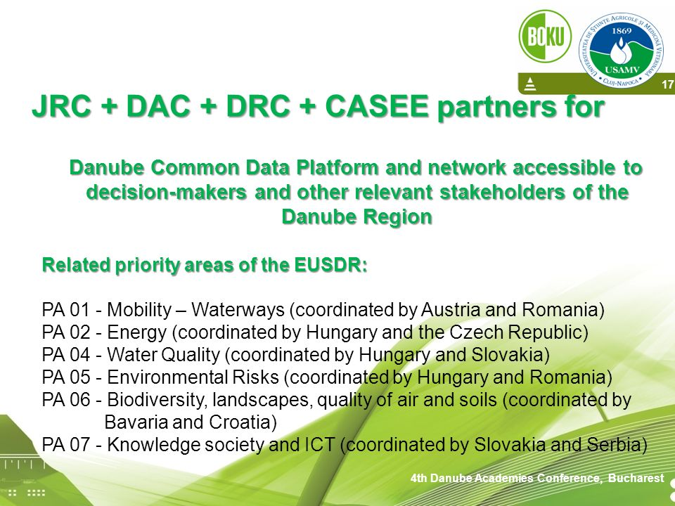 4th Danube Academies Conference, Bucharest
