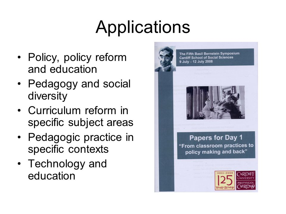 Applications Policy, policy reform and education