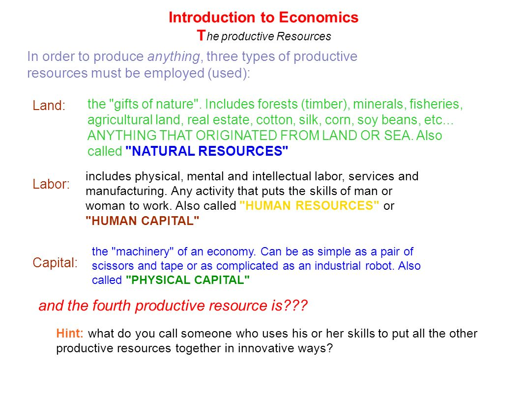 Resource Types: Natural, Mineral, Labor, and Other 9