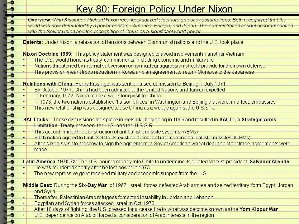 Key 80: Foreign Policy Under Nixon