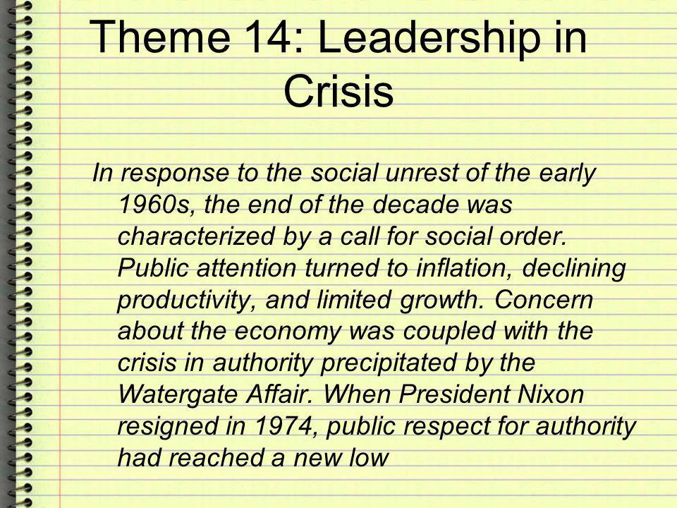 Theme 14: Leadership in Crisis