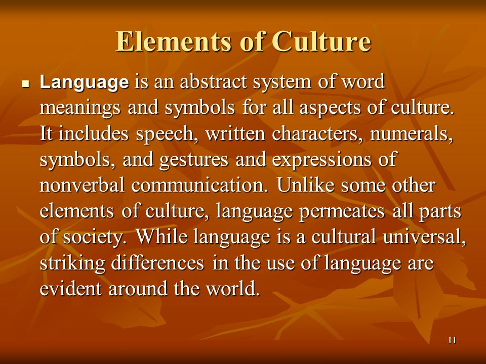Elements of Culture