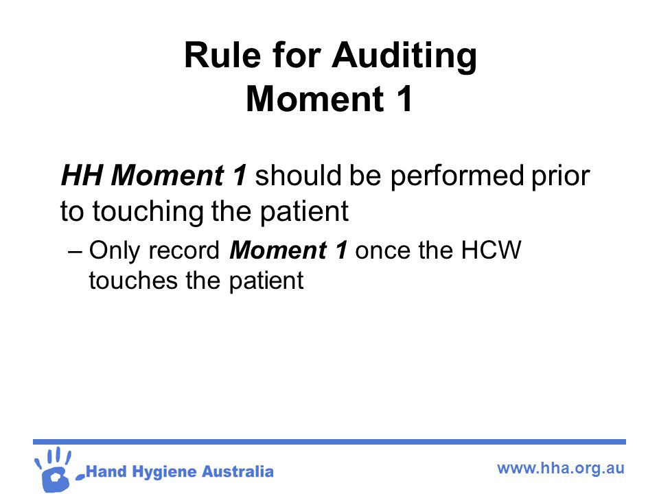 Rule for Auditing Moment 1