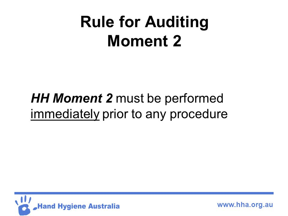Rule for Auditing Moment 2