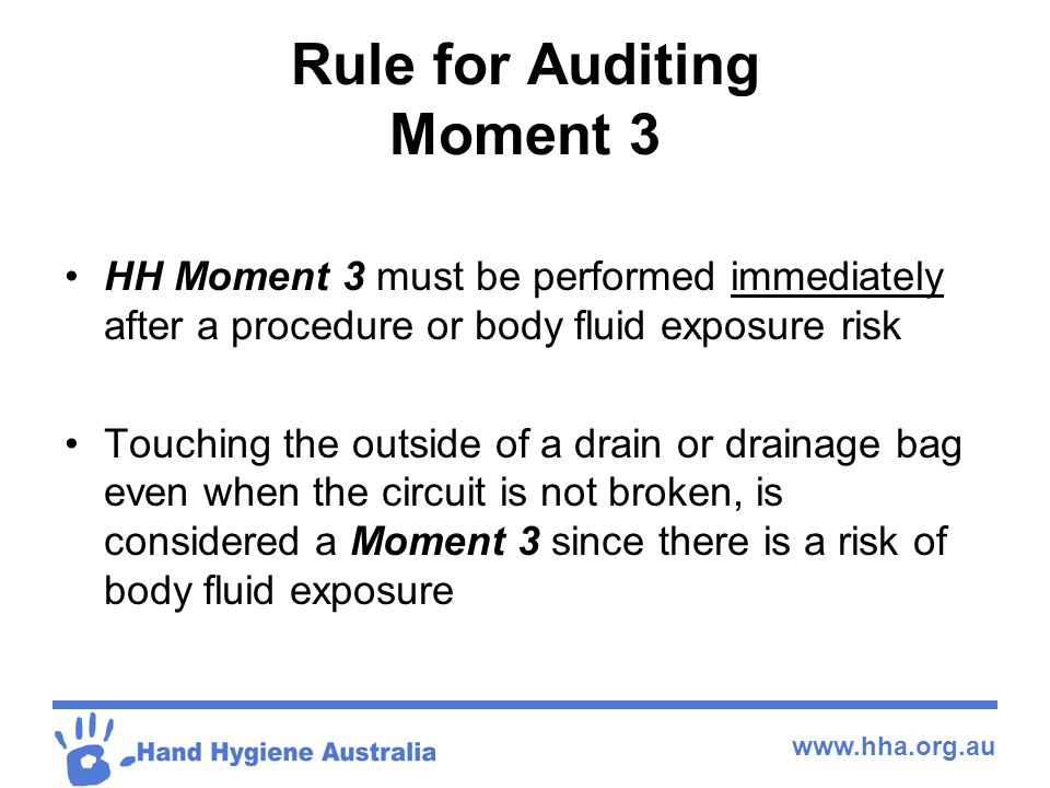 Rule for Auditing Moment 3