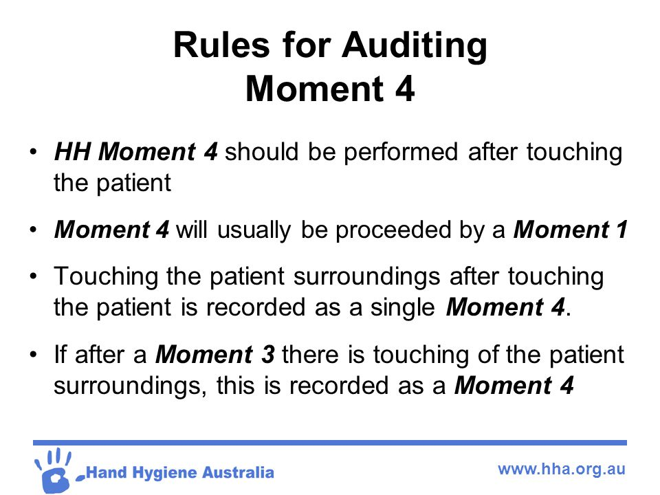 Rules for Auditing Moment 4