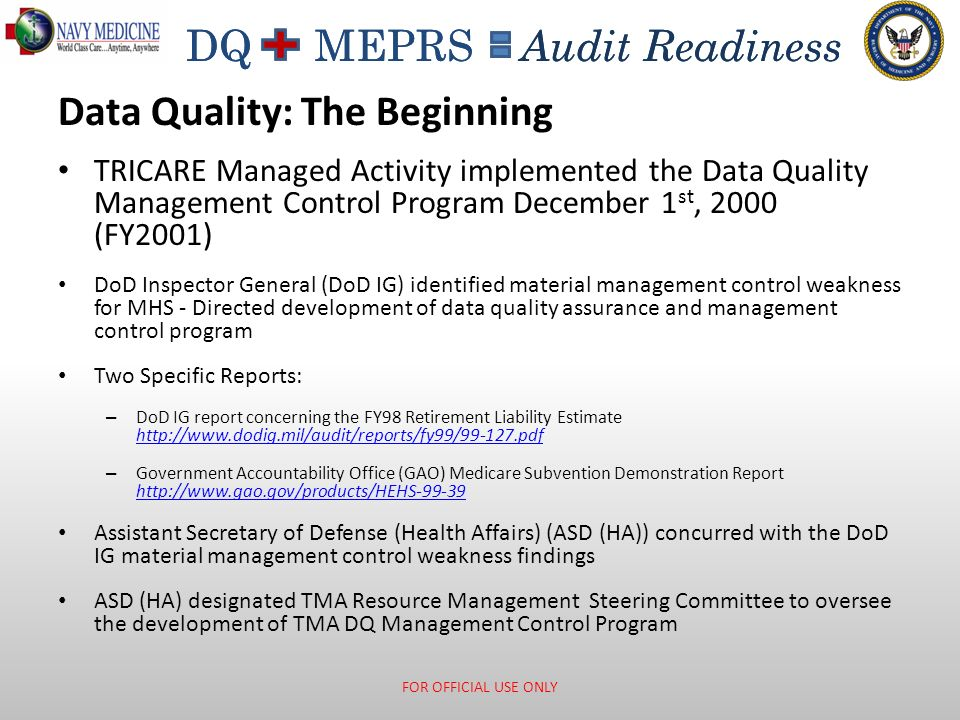 Data Quality: The Beginning