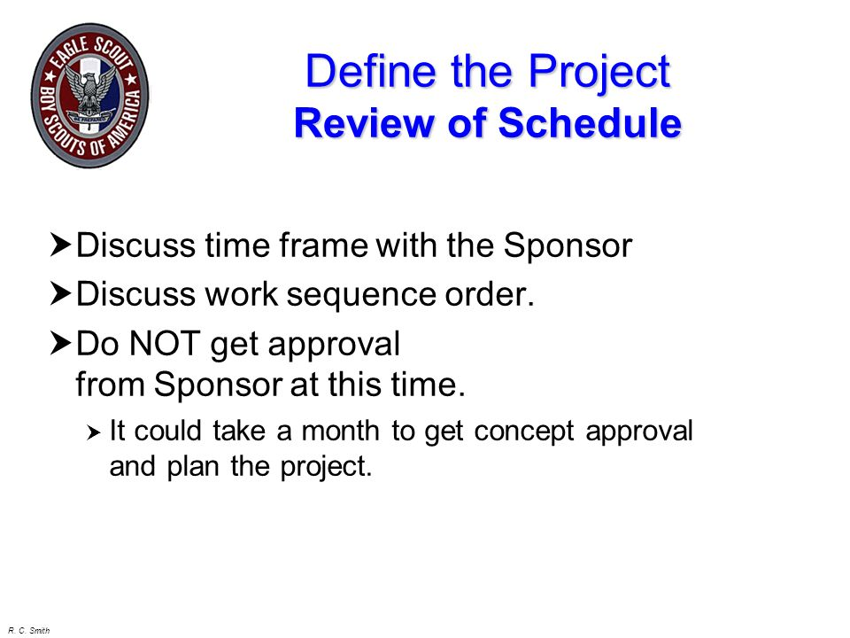Define the Project Review of Schedule