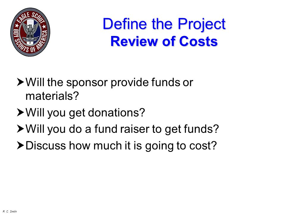Define the Project Review of Costs