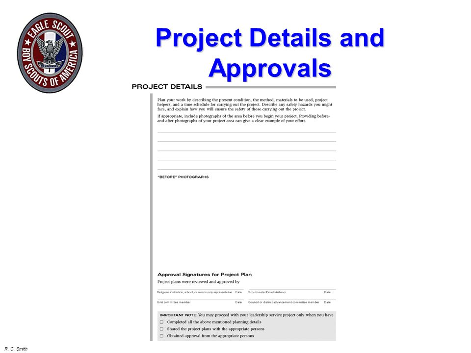Project Details and Approvals
