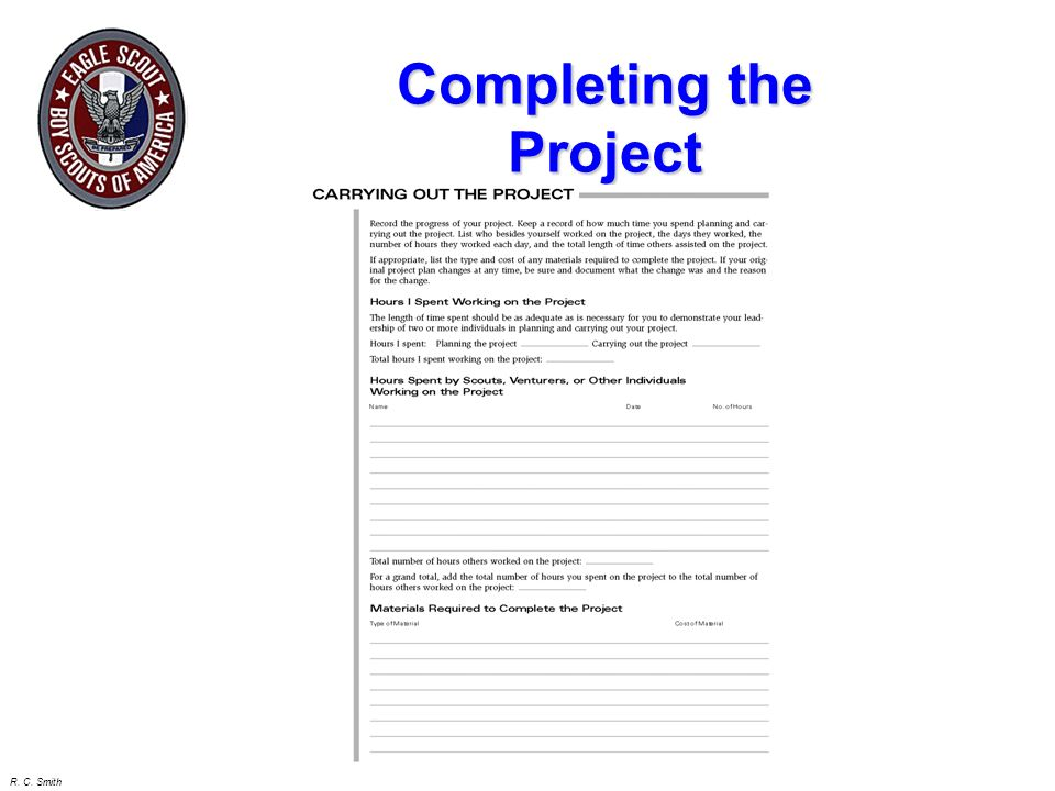 Completing the Project