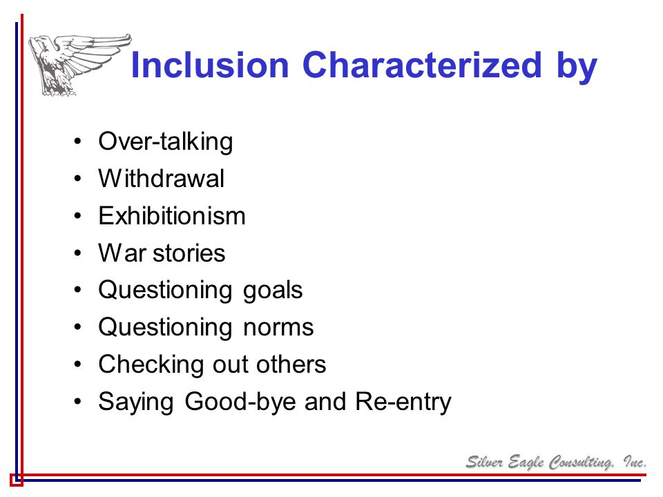 Inclusion Characterized by