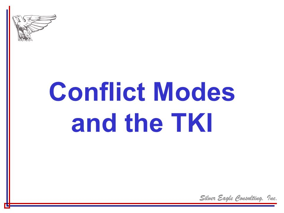 Conflict Modes and the TKI