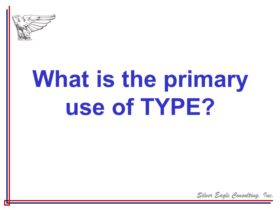 What is the primary use of TYPE