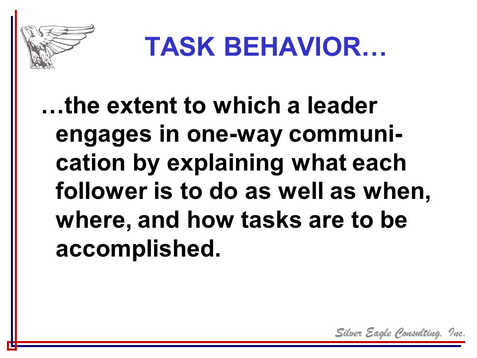 TASK BEHAVIOR…