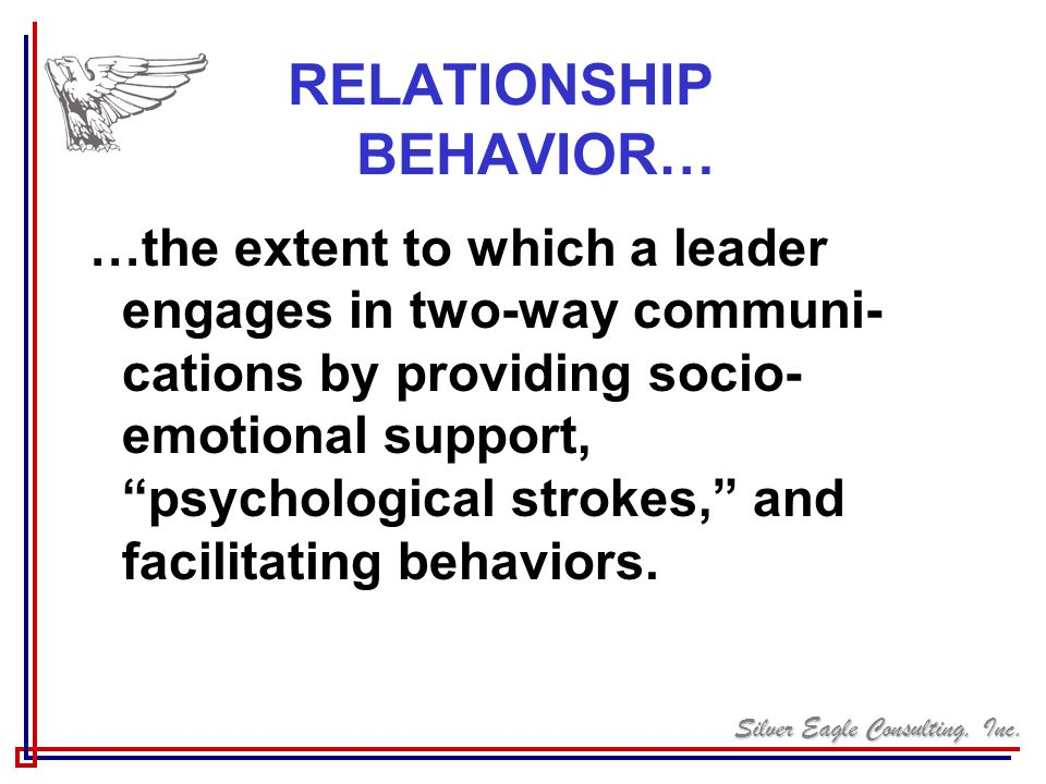 RELATIONSHIP BEHAVIOR…