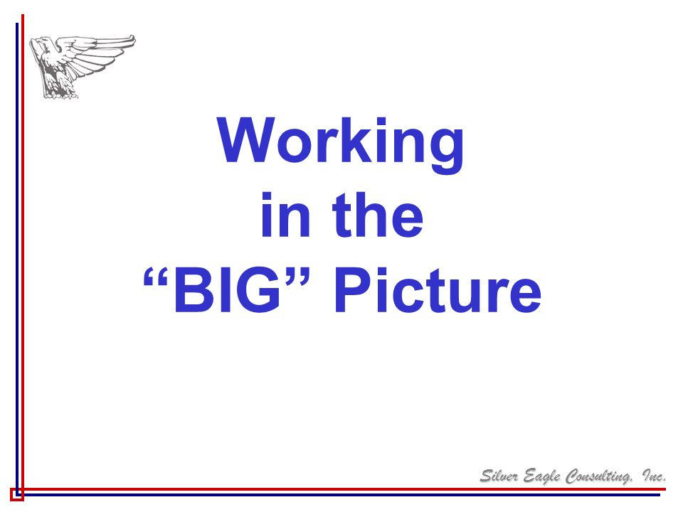 Working in the BIG Picture