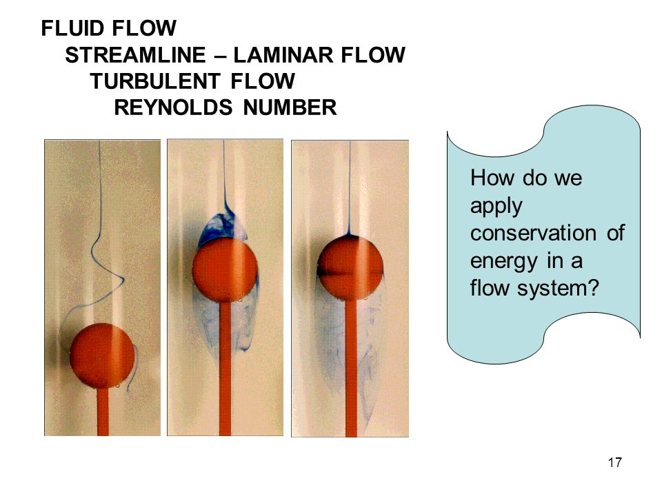 How do we apply conservation of energy in a flow system