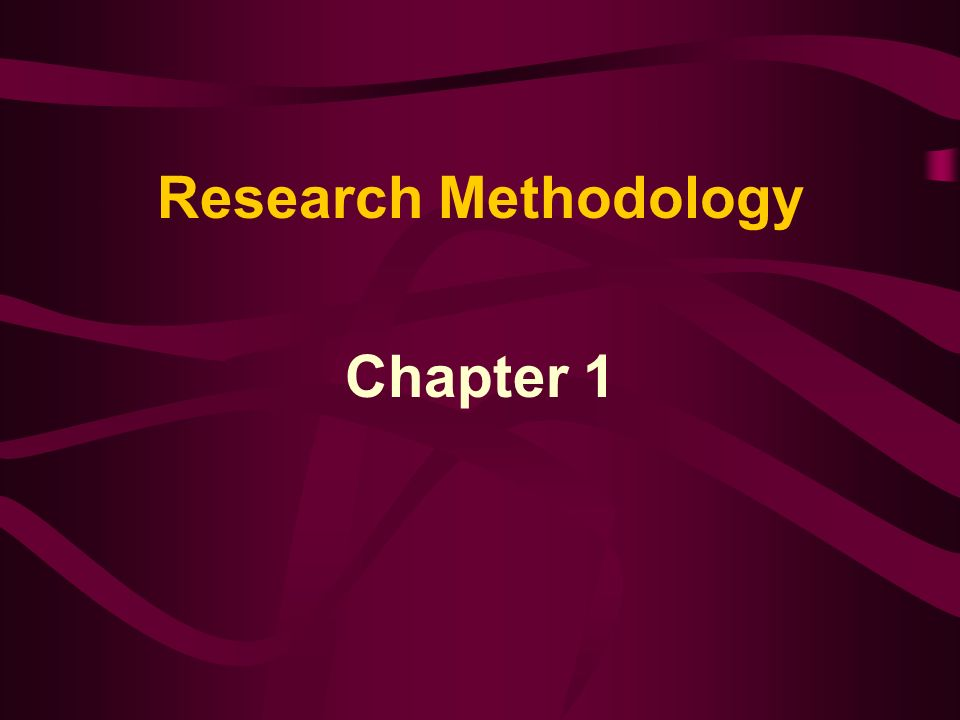 Research Methodology Chapter 1