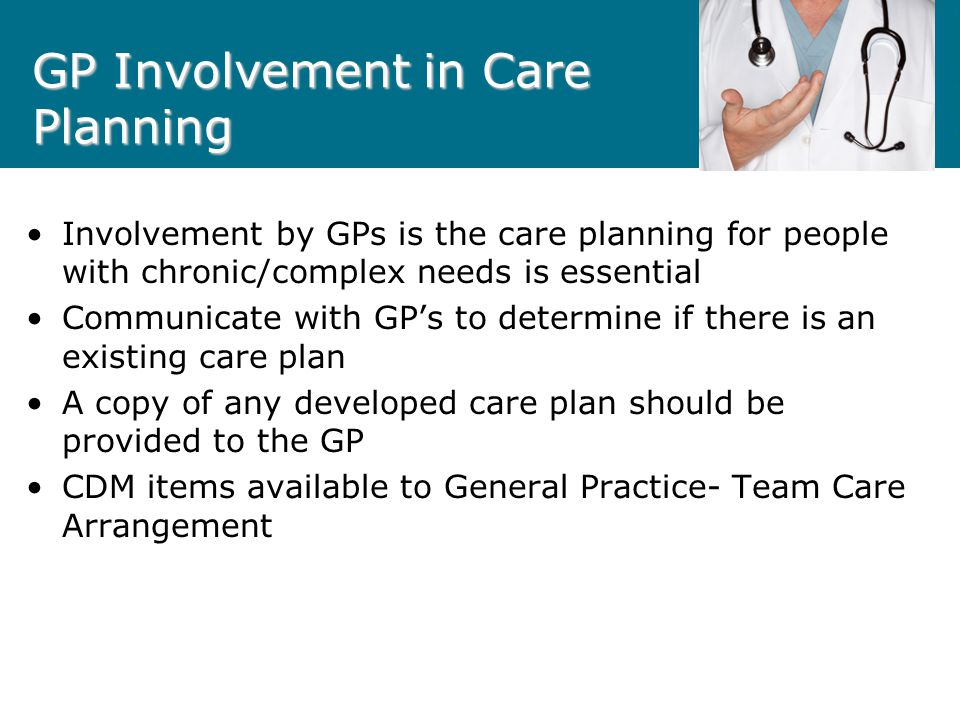 GP Involvement in Care Planning
