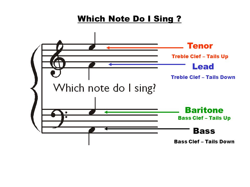 Baritone Bass Clef – Tails Up
