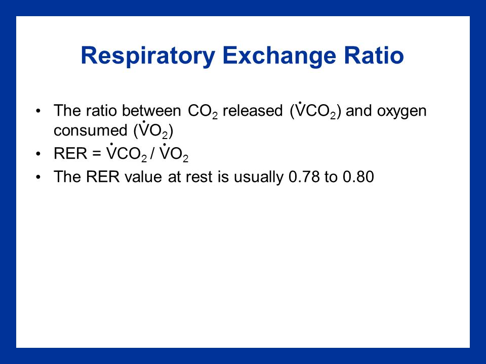 Respiratory Exchange Ratio