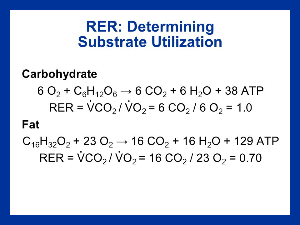 RER: Determining Substrate Utilization