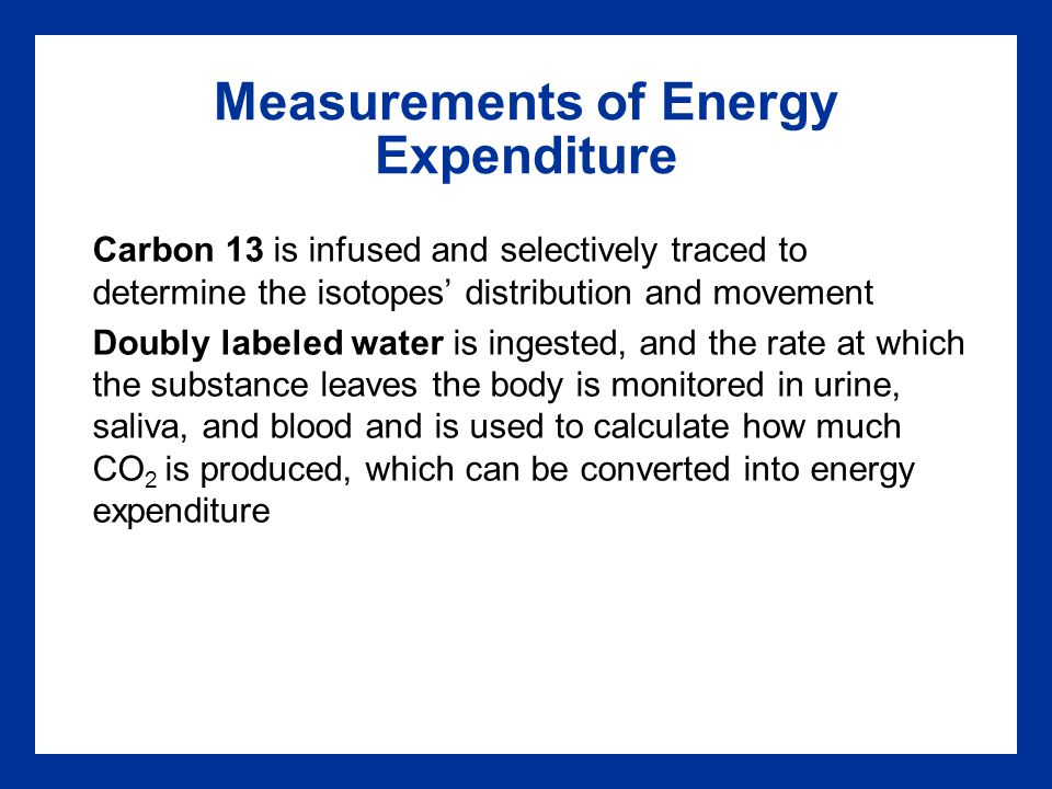 Measurements of Energy Expenditure