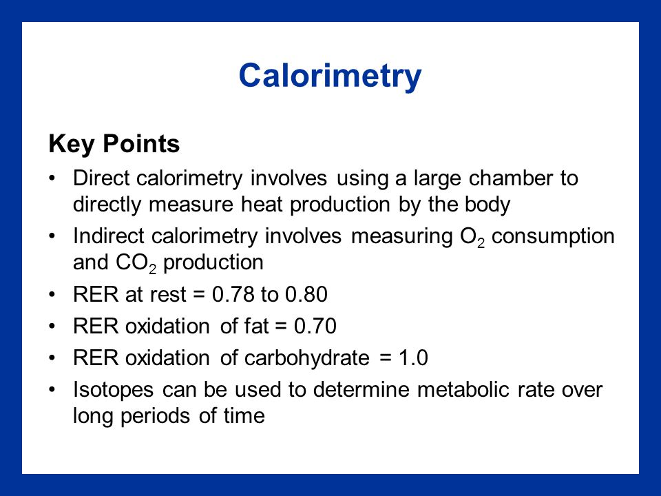 Calorimetry Key Points