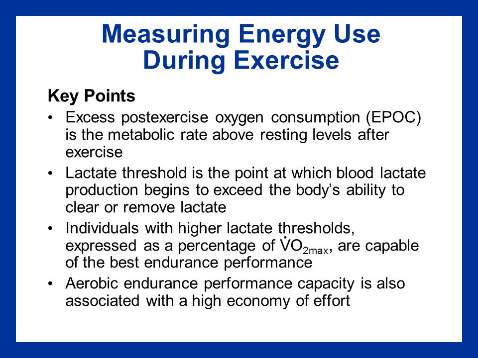 Measuring Energy Use During Exercise