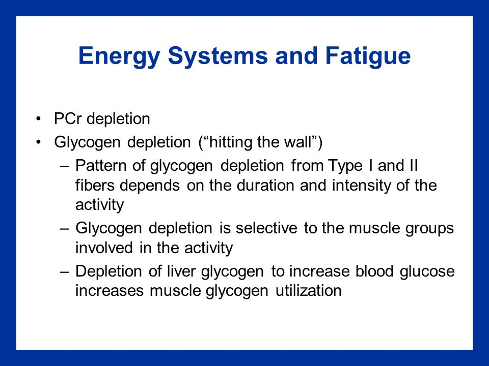 Energy Systems and Fatigue