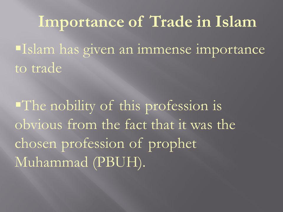 Importance of Trade in Islam