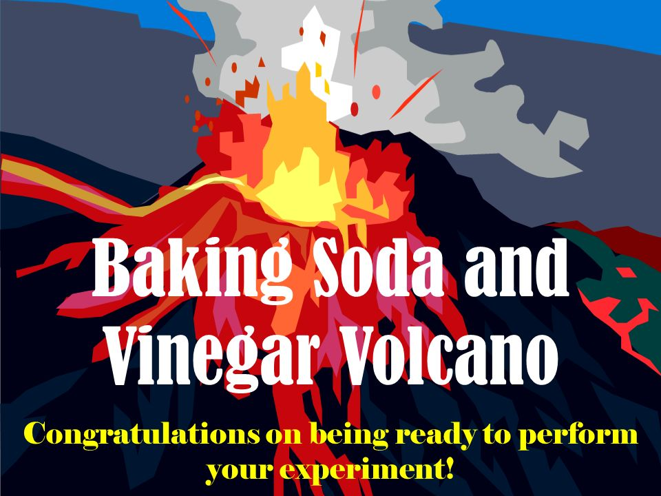 Baking Soda and Vinegar Volcano