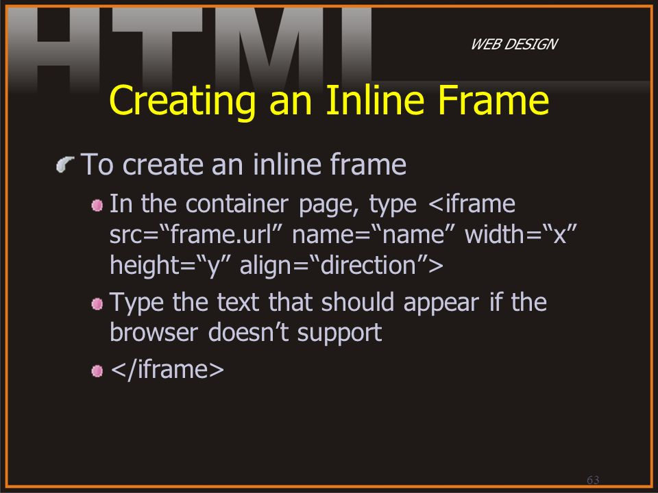 Creating an Inline Frame