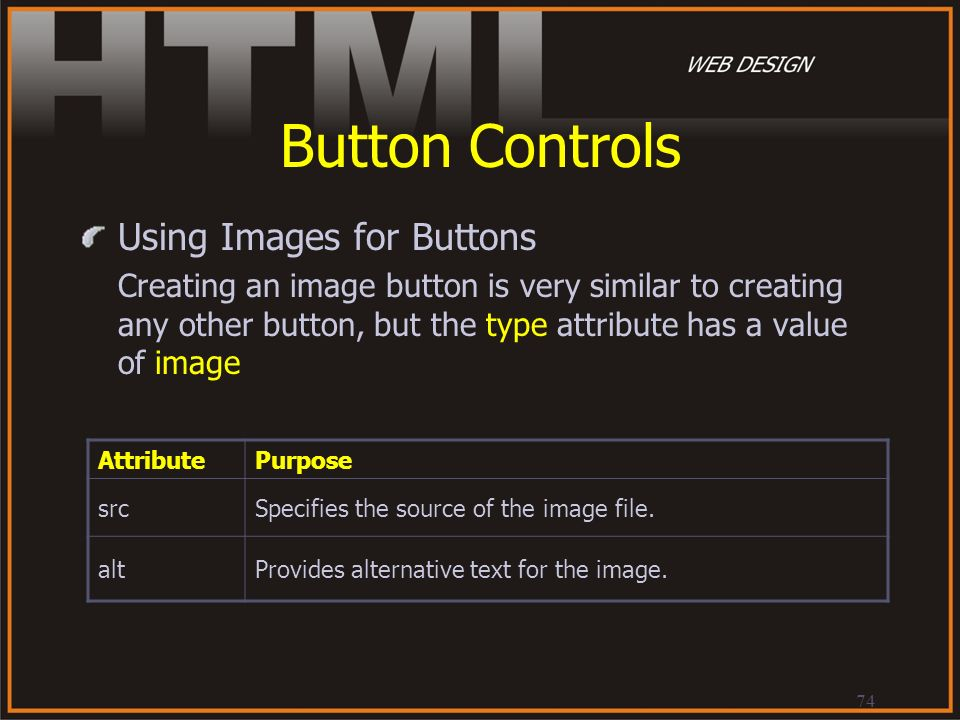 Button Controls Using Images for Buttons
