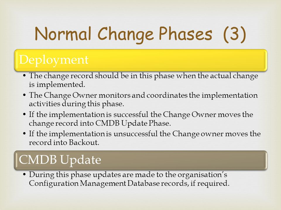 Normal Change Phases (3)