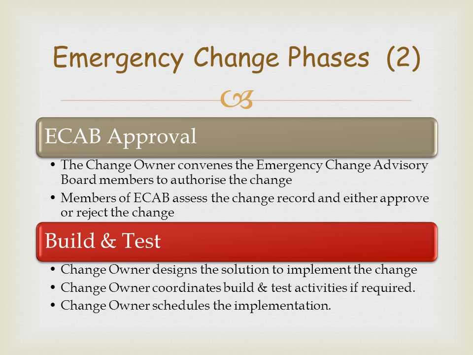 Emergency Change Phases (2)
