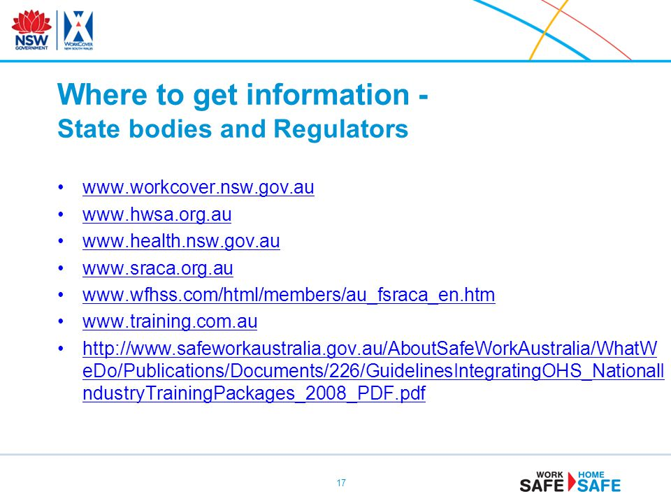 Where to get information - State bodies and Regulators
