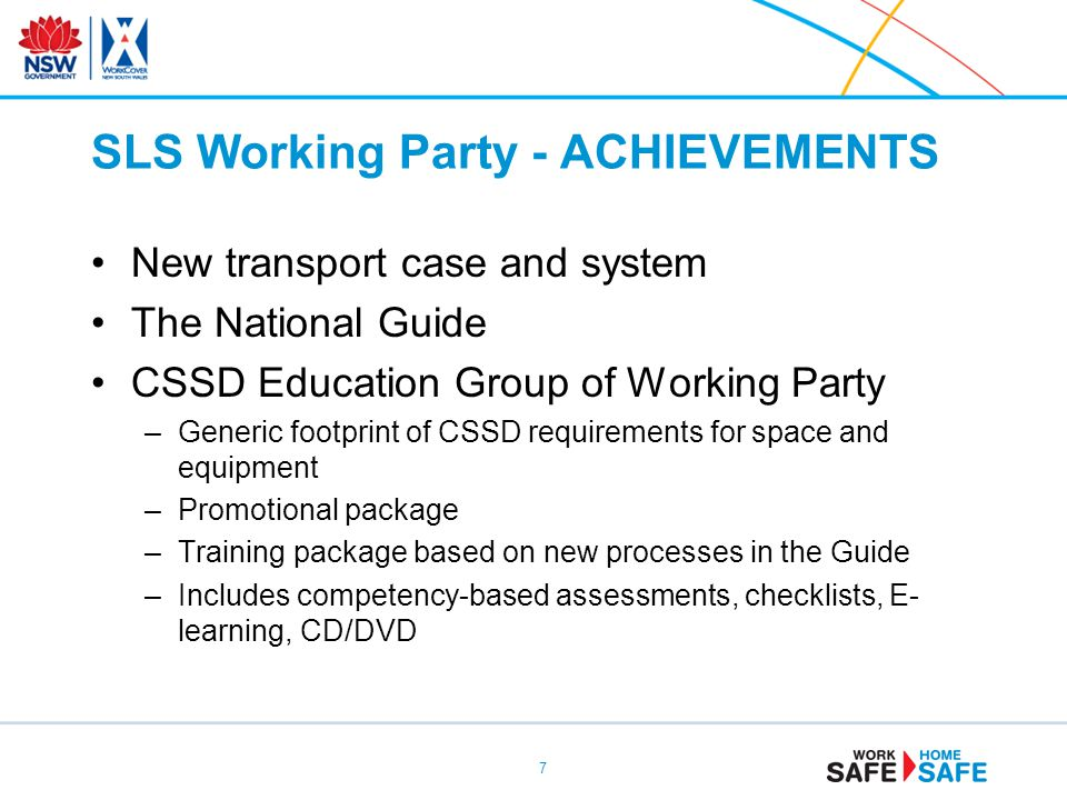 SLS Working Party - ACHIEVEMENTS