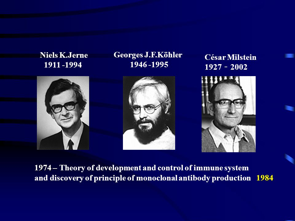 1974 – Theory of development and control of immune system