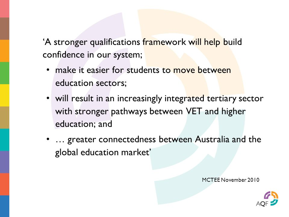make it easier for students to move between education sectors;